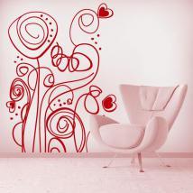 Decorative vinyl Retro flowers English 610