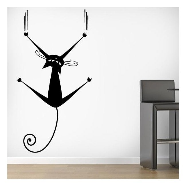 Decorative vinyl cat on the wall