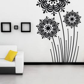 Decorative vinyl flowers Splash