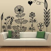Vinyl decorative Floral Art