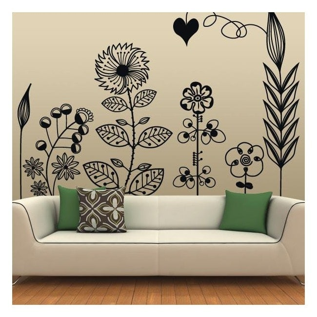 Vinyl decorative Floral Art