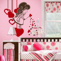Decorative vinyl magic hearts