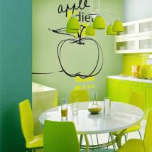 Decorative vinyl Apple Diet English 628