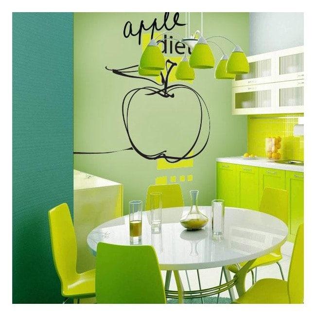 Decorative vinyl Apple Diet English 628