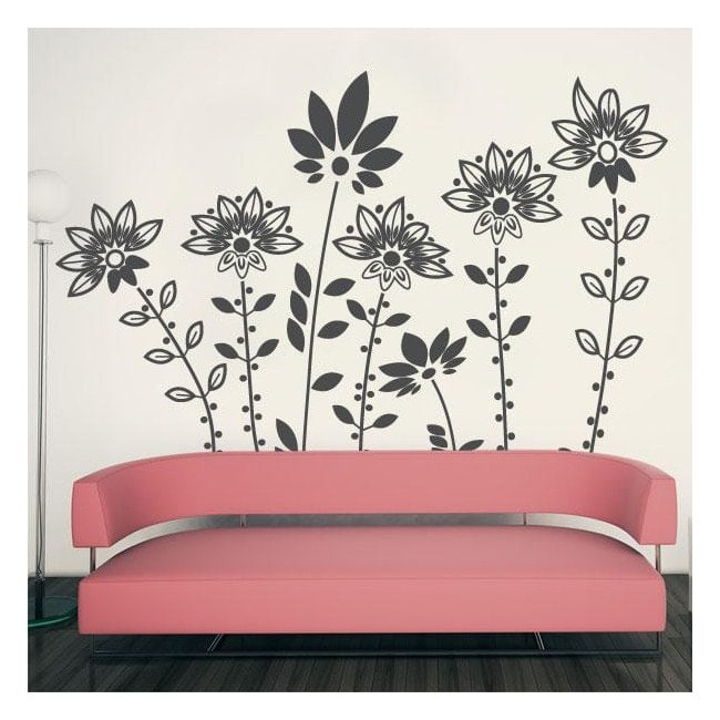 Decorative vinyl design flowers