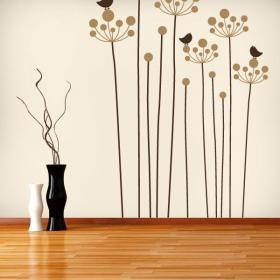Vinyl decorative Floral nature