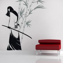 Vinyl decorative silhouette Samurai