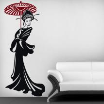Decorative vinyl Japanese woman silhouette