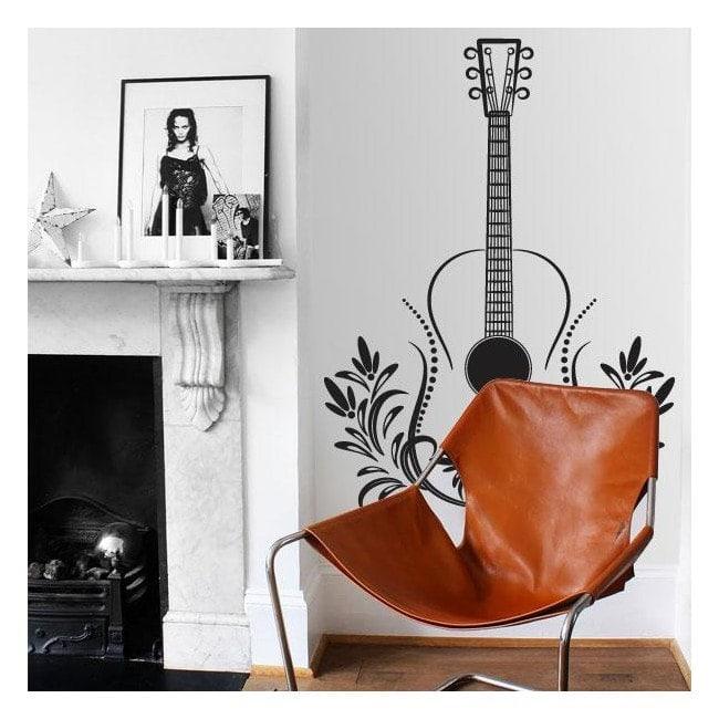 Decorative vinyl guitar Tribal