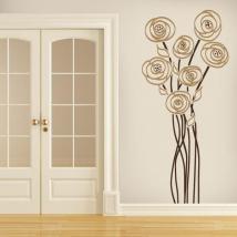 Decorative vinyl flower charm English 645