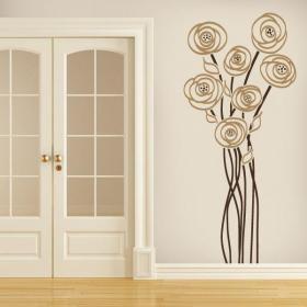 Vinyl decorative Floral charm