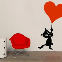 Decorate walls romantic cat