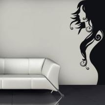 Vinyl decorative silhouette woman English 651