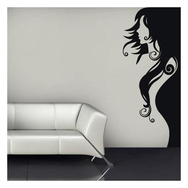 Vinyl decorative silhouette woman English 651