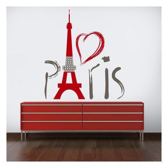 Vinyl decorative Tower Eiffel Paris