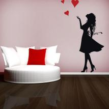Decorative vinyl romantic women