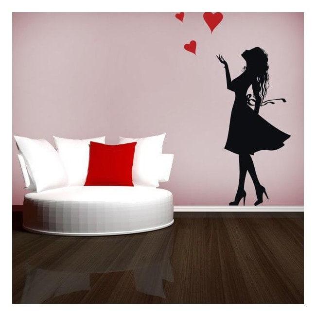Decorative vinyl romantic women