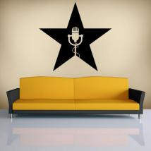 Decorative vinyls Musical star