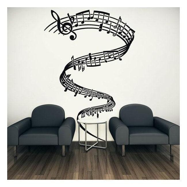 Decorative vinyls Musical Tornado