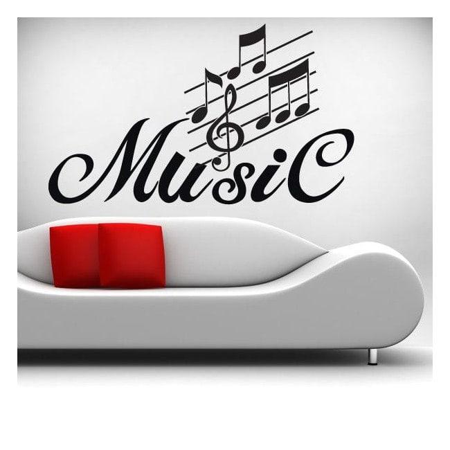 Decorative vinyl music detail
