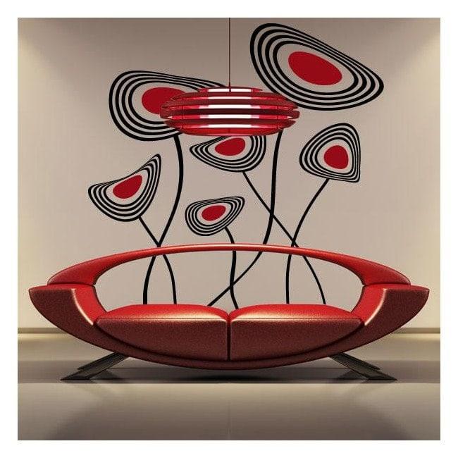 Flowers decorative vinyl disc