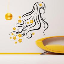 Vinyl decorative silhouette spring woman