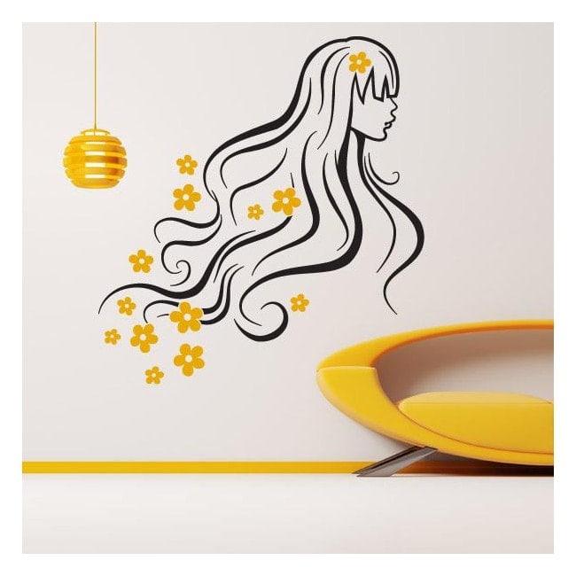 Vinyl decorative silhouette spring woman