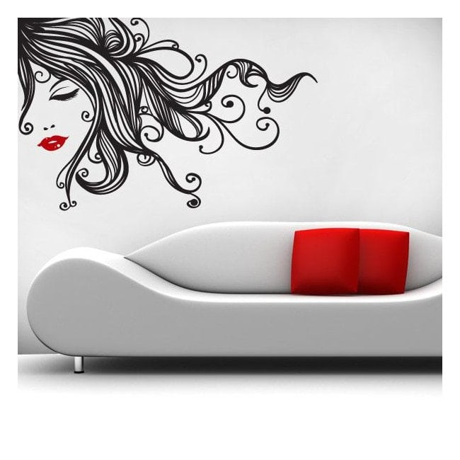 Decorative vinyl walls Pop female