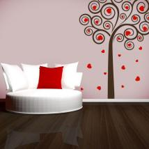 Vinyl decorative tree of hearts
