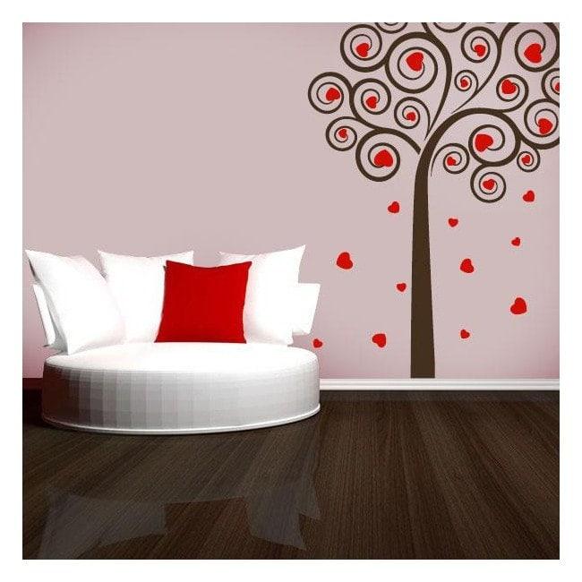 Vinyl decorative tree of hearts