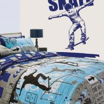 Decorative vinyl wall Skate