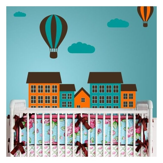 Decorative vinyl colors of city
