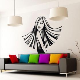 Decorative vinyl woman silhouette style