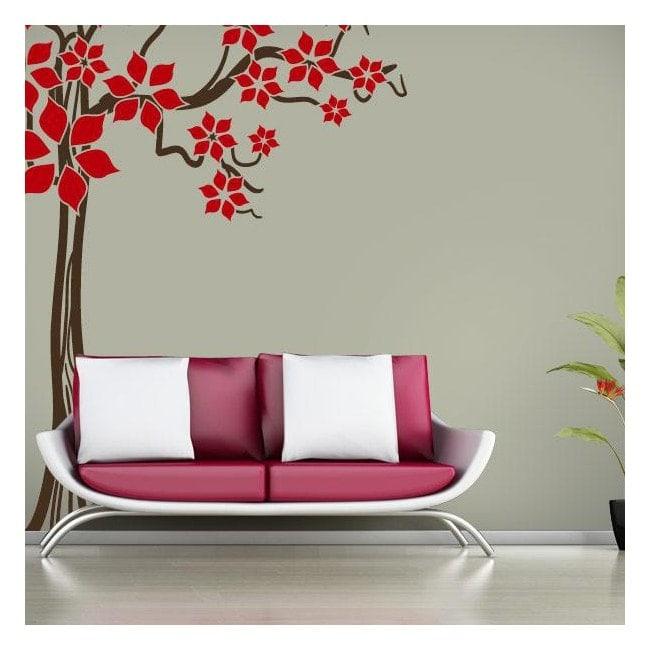 Tree spring Floral decorative vinyl