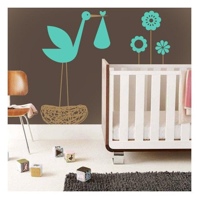 Children's decorative vinyl Stork
