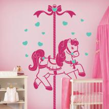 Children's decorative vinyl Retro horse