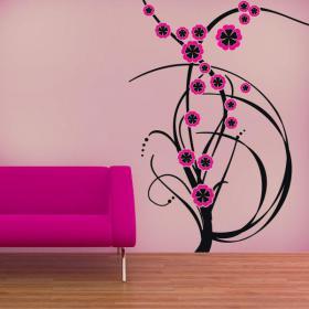 Decorative vinyl Color flowers
