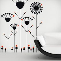 Decorative vinyl flowers Pop walls