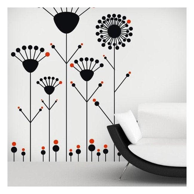Decorative vinyl flowers Pop walls