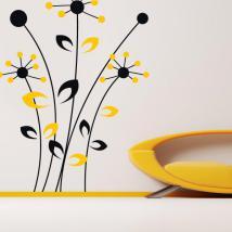 Decorative vinyl wall flowers Bicolor