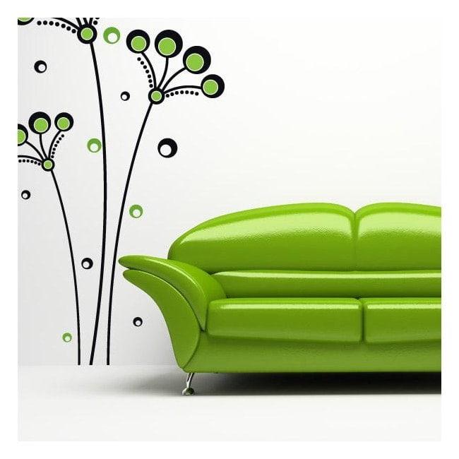 Decorative vinyl flowers Retro circles