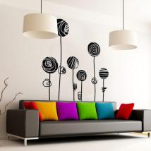 Decorative vinyl flowers strokes