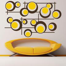 Decorative vinyl Retro circles and lines