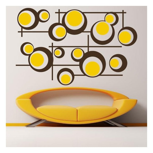 Decorative vinyl Retro circles and lines