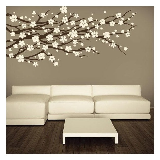 Decorative vinyl wall Floral nature