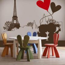 Decorative vinyl romantic Paris
