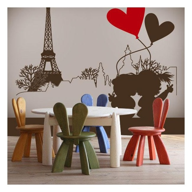 Decorative vinyl romantic Paris