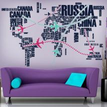 Vinyl decorative world routes