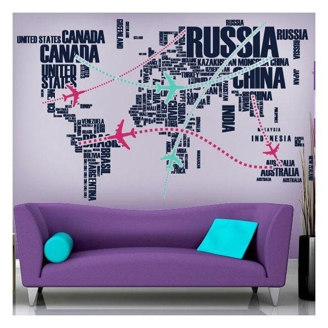 Vinyl decorative world routes