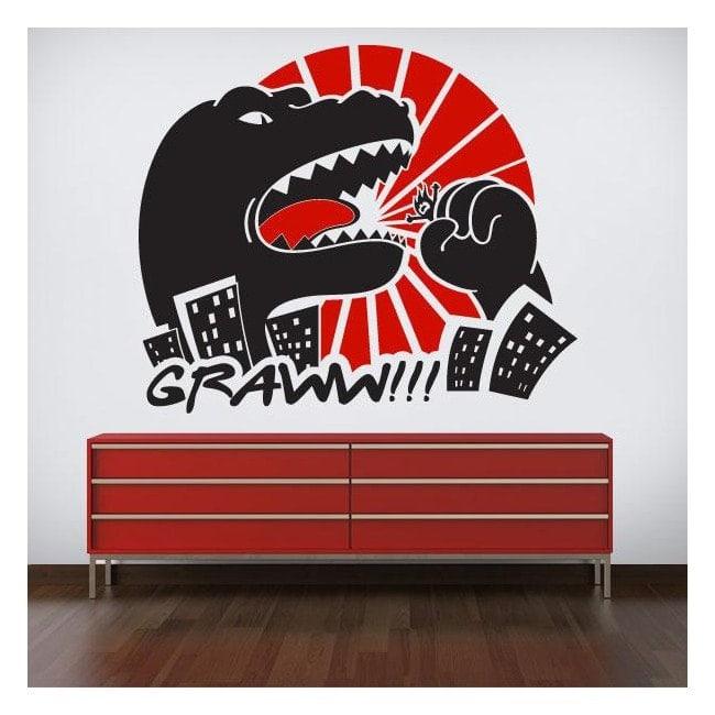 Decorative vinyl wall Godzilla
